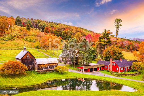 istock Rural Autumn Vermont 827345628