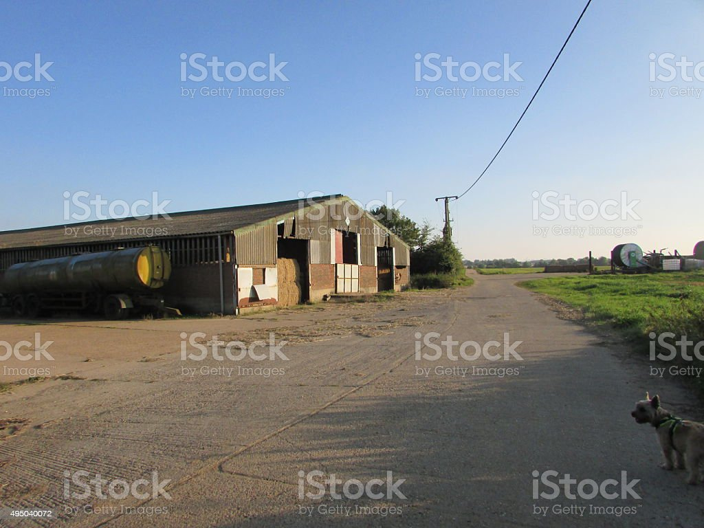 rural barn house  background stock photo