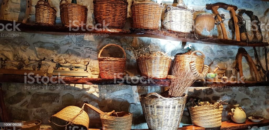 Cestas de rurales - foto de stock