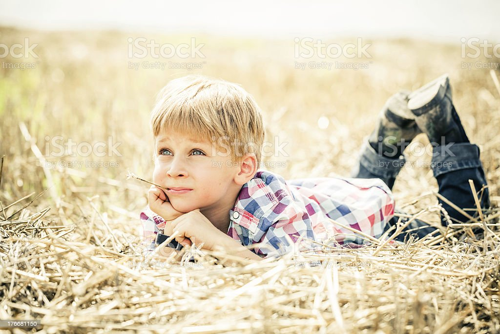 Rural Boy Portrait royalty-free stock photo