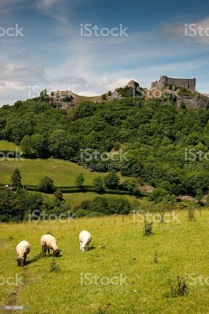Rural British countryside stock photo