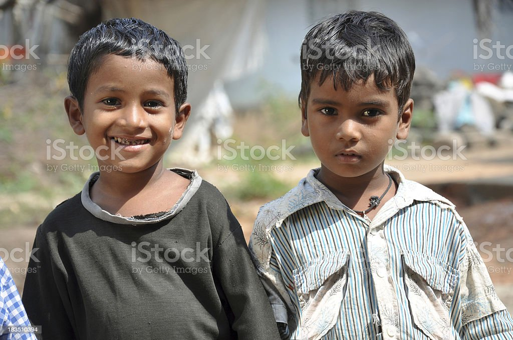 Rural Children stock photo