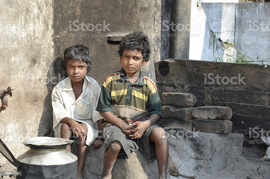 Rural children stock photo
