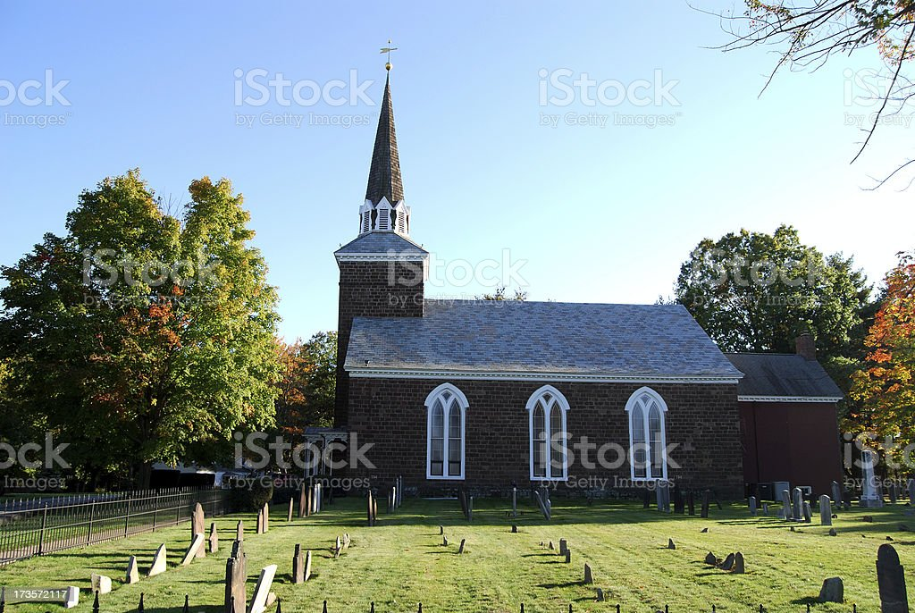 Rural Church And Graveyard royalty-free stock photo