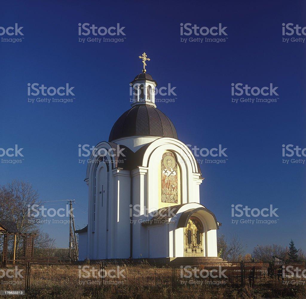 Rural church. royalty-free stock photo