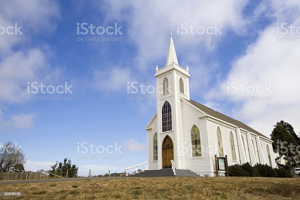 Rural Church royalty-free stock photo