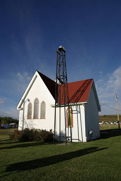 Rural churches represent faith and religion.  anachronistic stock pictures, royalty-free photos & images