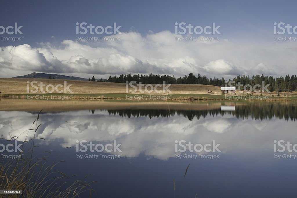 Rural Cloudscape with Barn royalty-free stock photo