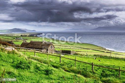 istock Rural coastal scene, Dingle Peninsula, Ireland 187736440