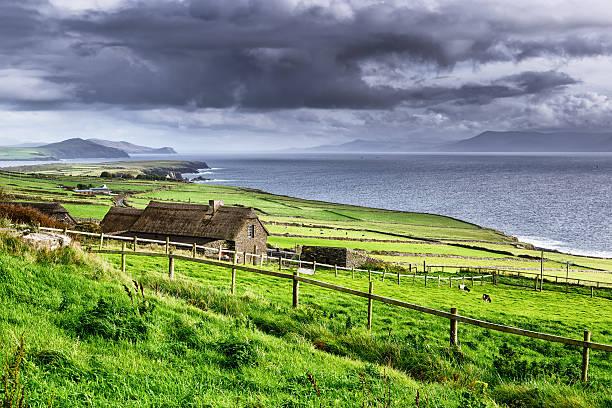 Rural coastal scene, Dingle Peninsula, Ireland stock photo