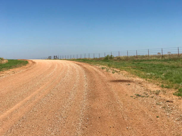 Rural Country Gravel Road stock photo