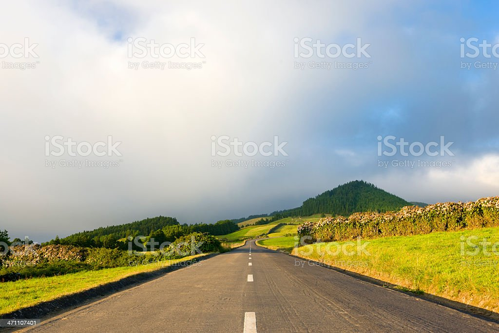 Rural Country Road royalty-free stock photo