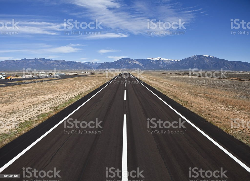 Rural County Airport Runway stock photo