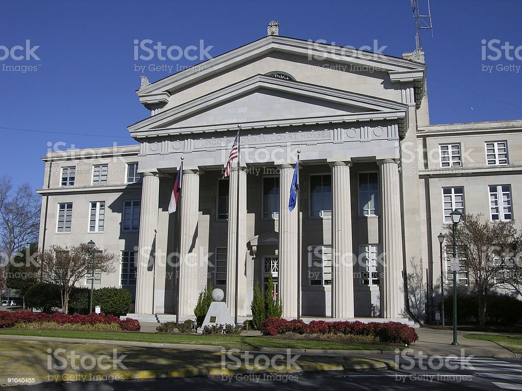 Rural Court House royalty-free stock photo