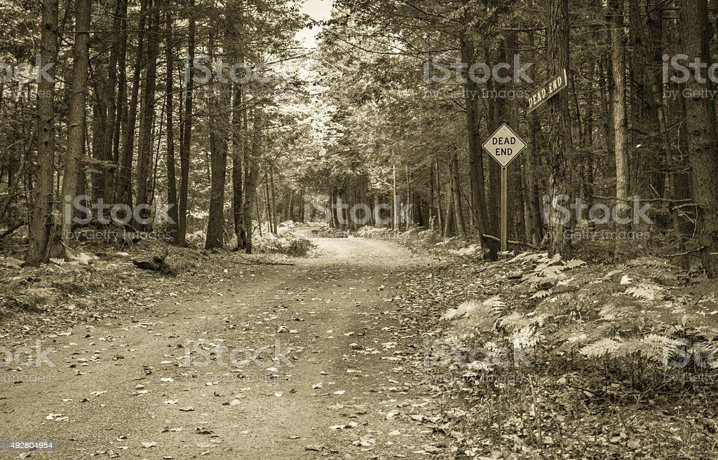 Rural Dead End Dirt Road stock photo
