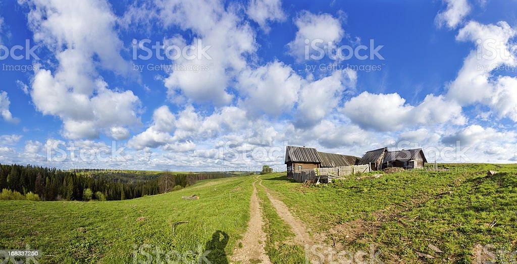 Rural dirt road royalty-free stock photo
