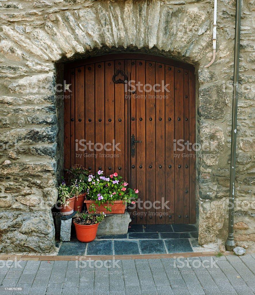 Rural door royalty-free stock photo
