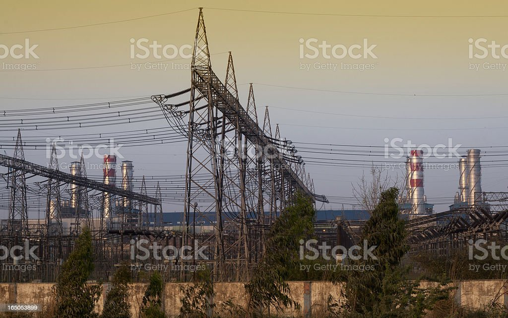 Rural electric power plant. royalty-free stock photo