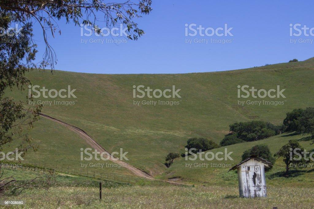 Ländliche Ackerland rollende Hügel - Lizenzfrei Agrarbetrieb Stock-Foto