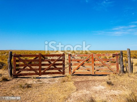 Rural fence in Patagonia, Argentina
