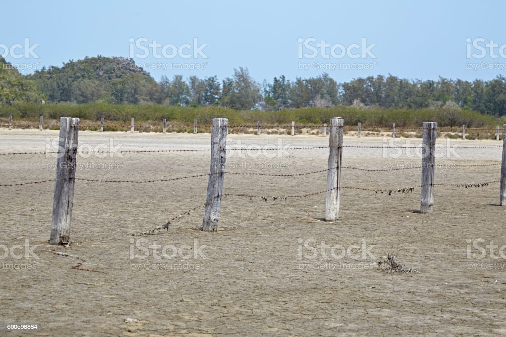 Rural fence'n royalty-free stock photo