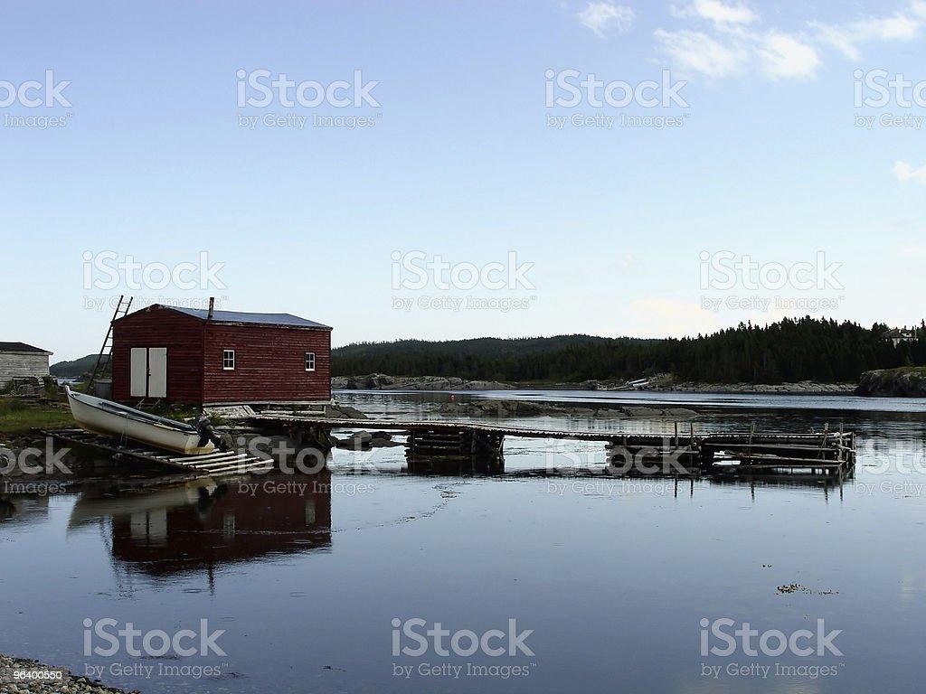 Rural Fishing Village - Royalty-free Blue Stock Photo