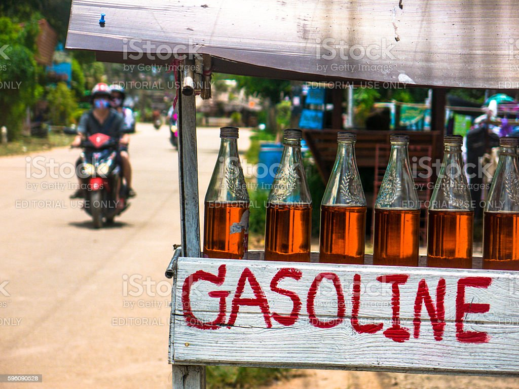 Rural Gasoline Gas Petrol Station People Pollution Transport royalty-free stock photo