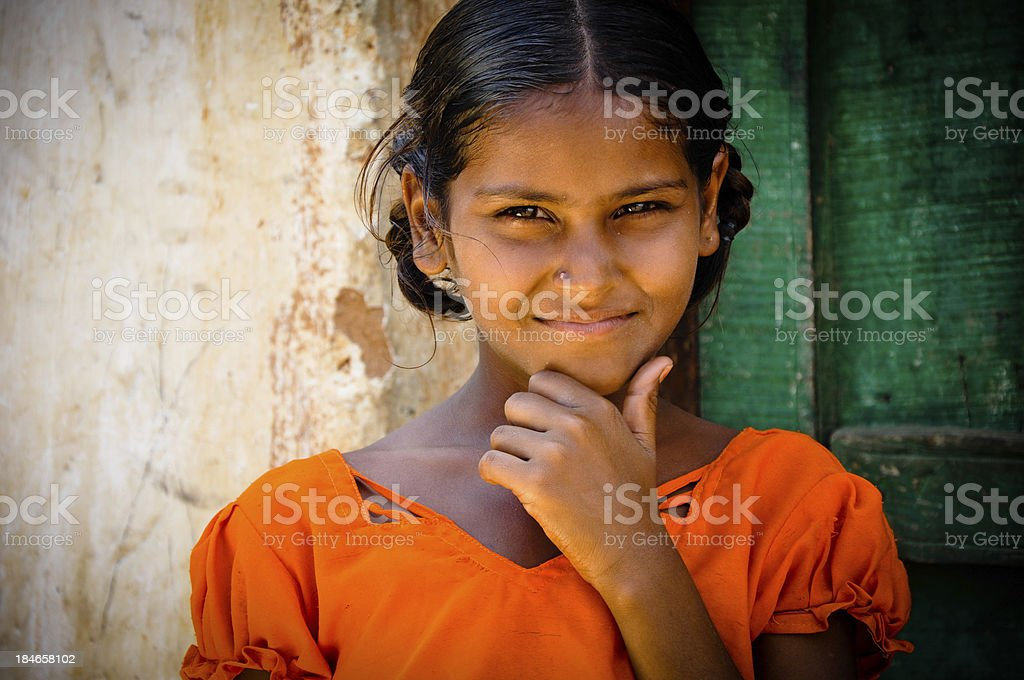 Rural Girl stock photo