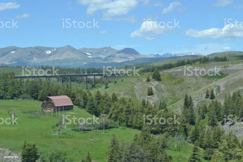 Rural Grassing Land stock photo
