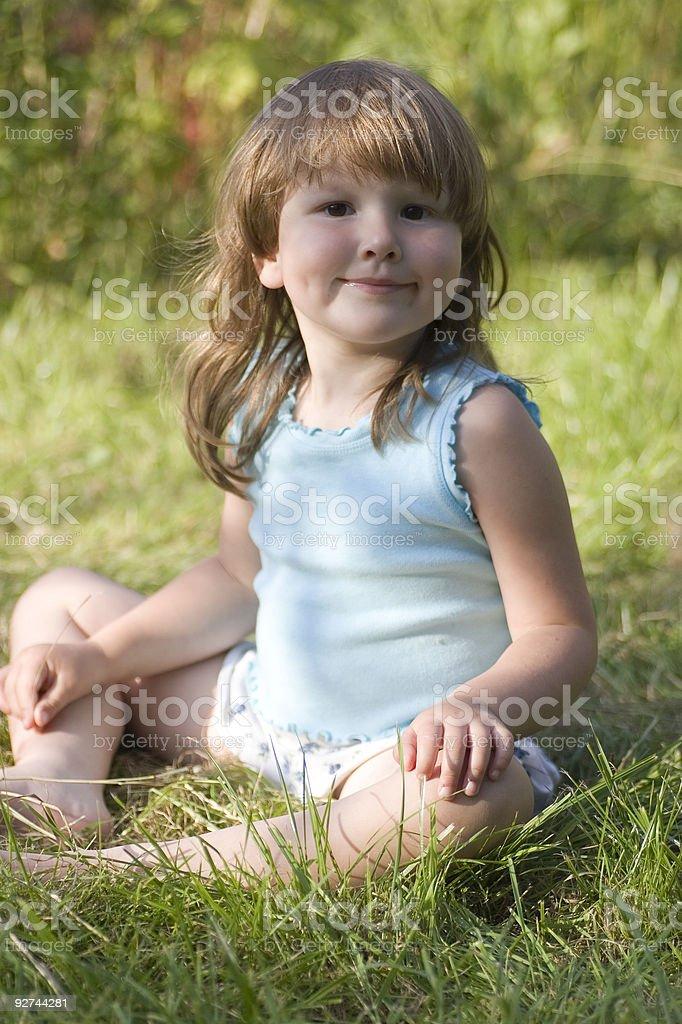 Rural happy girl royalty-free stock photo
