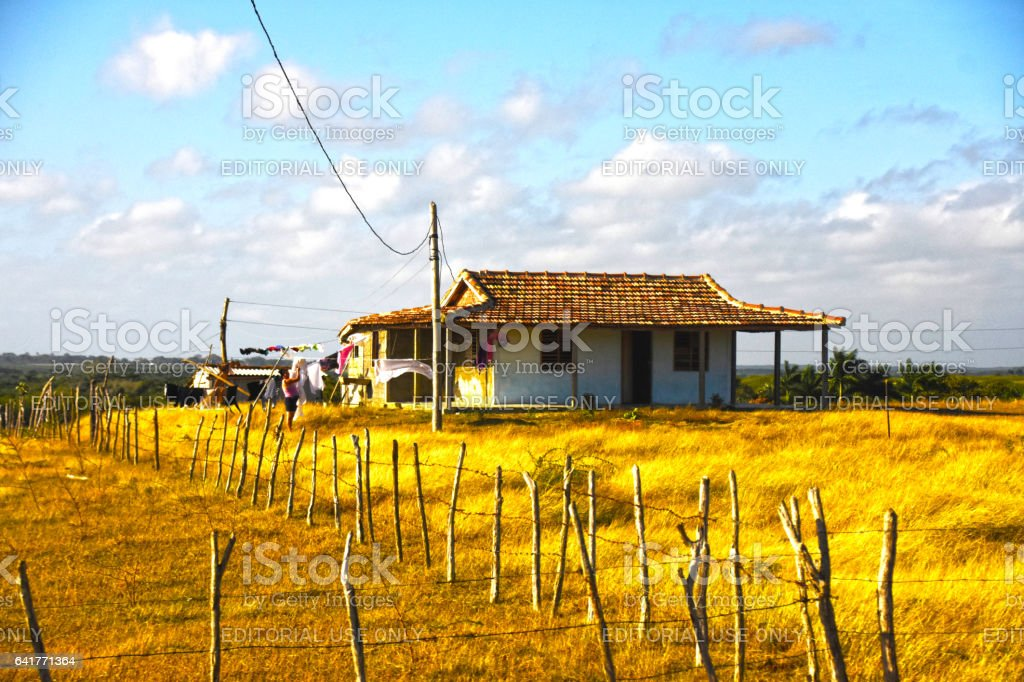 Rural home in Cuba stock photo
