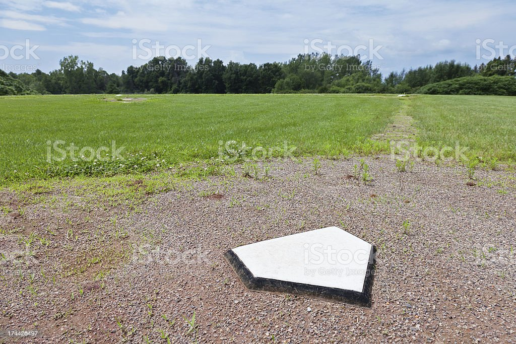 Rural Home Plate stock photo