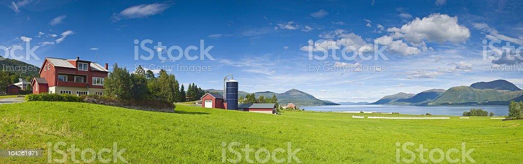 Rural homes royalty-free stock photo