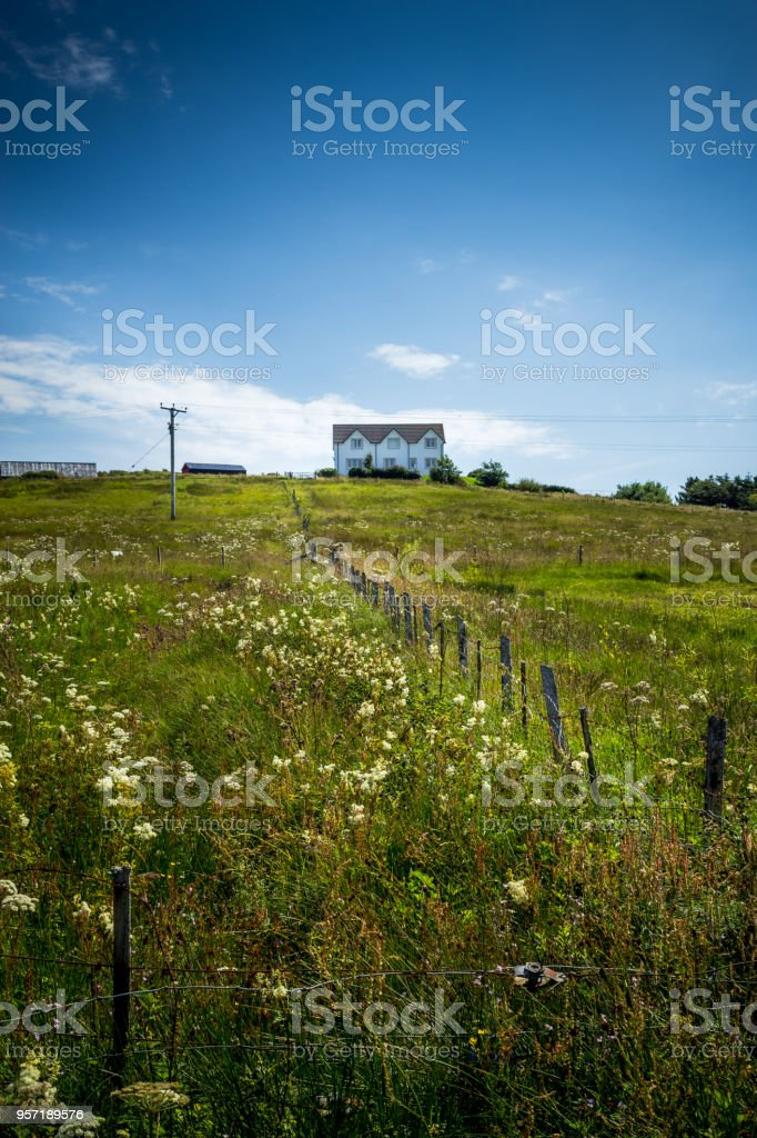 Rural House in Countryside stock photo
