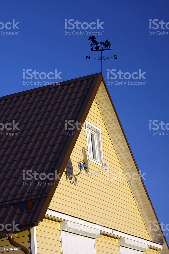 Rural house roof stock photo