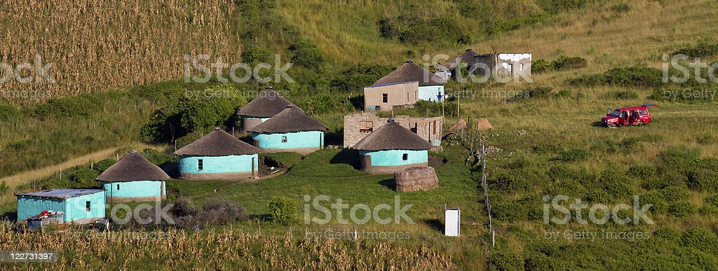 rural housing in south africa stock photo