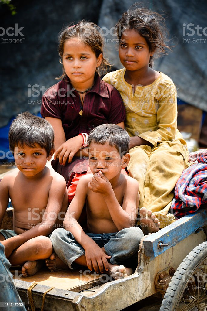 Rural Indian Children stock photo