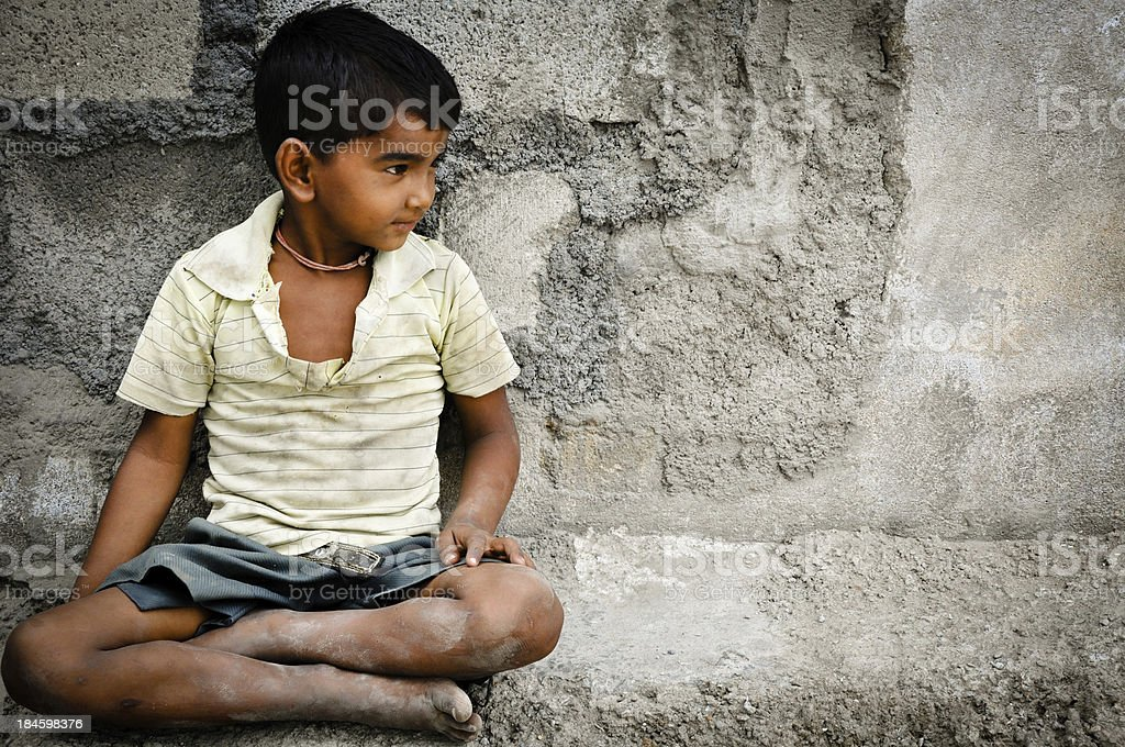 Rural kid stock photo