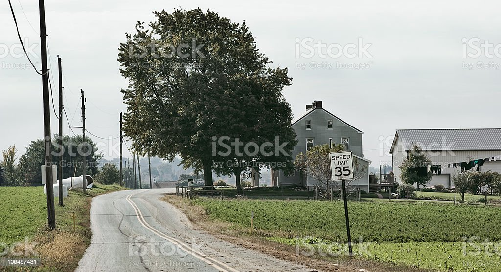Rural; Lancaster Country Roads stock photo