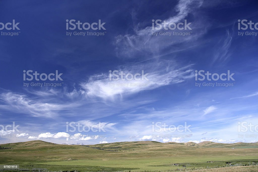Rural landscape, blue sky royalty-free stock photo
