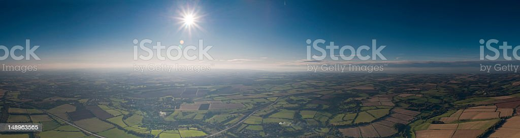 Rural landscape dramatic sunburst royalty-free stock photo