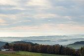 Wide angle capture of the beautiful Austrian landscape near Linz in autumn 2012.Wide angle capture of the beautiful Austrian landscape near Linz in autumn 2012.