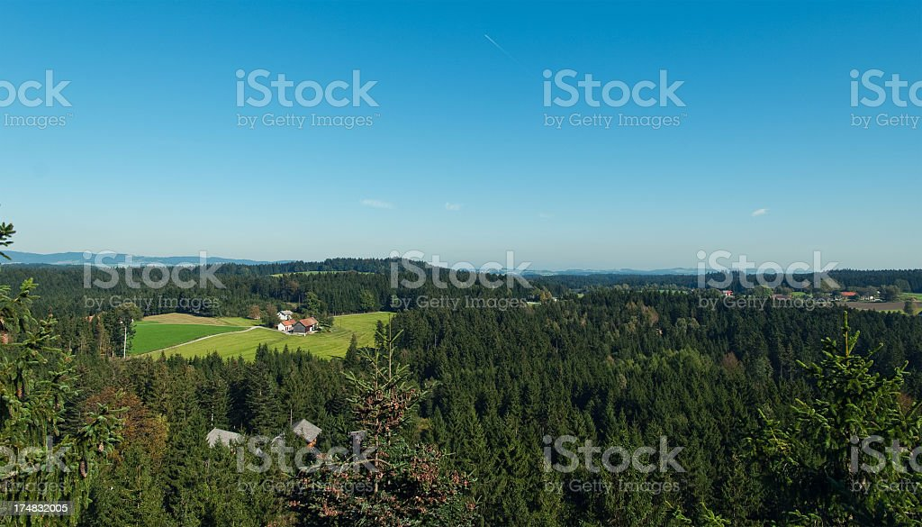 Rural Landscape in Austria royalty-free stock photo