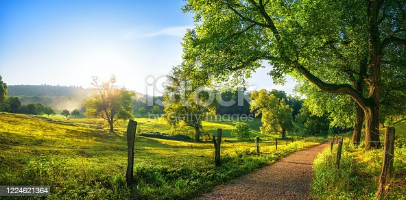 istock Rural landscape in late summer 1224621364