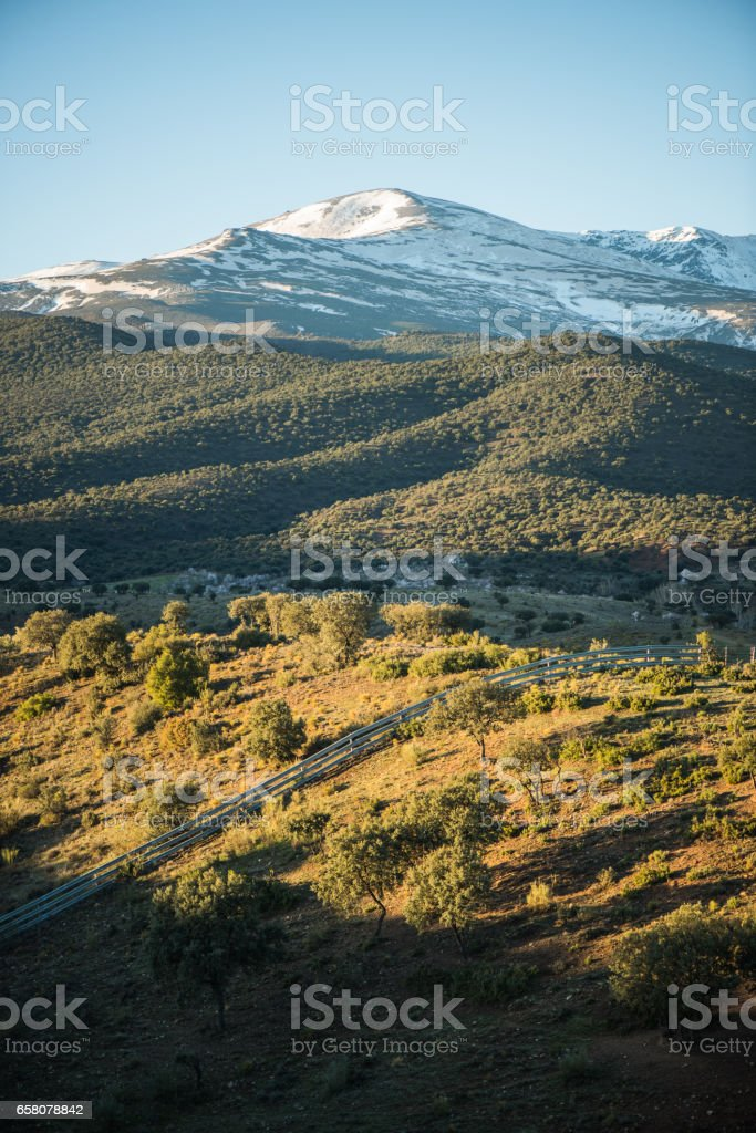 Rural landscape in Sierra Nevada,Spain royalty-free stock photo