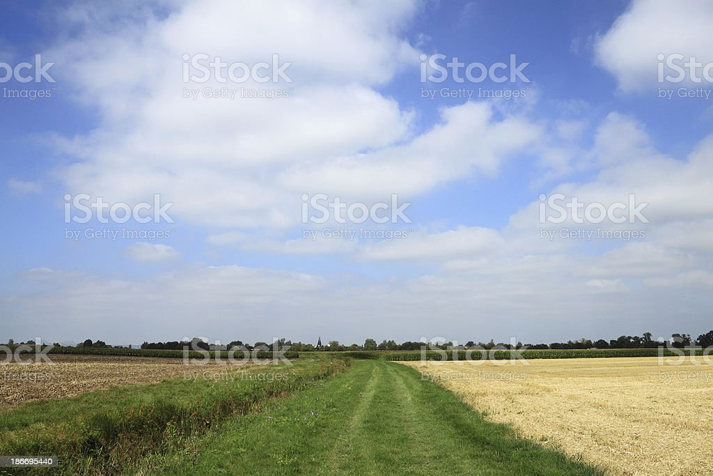 Rural landscape in the Nördlinger Ries ( Swabia ) royalty-free stock photo