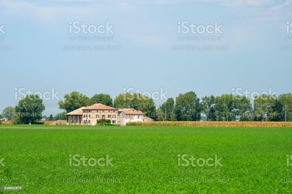 Rural landscape near Fidenza, Italy stock photo