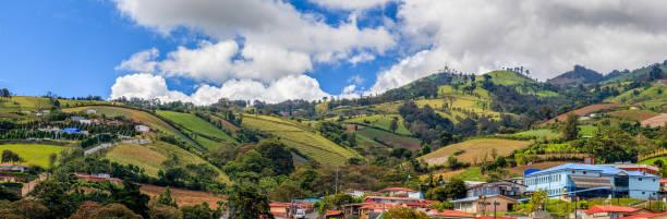 Rural landscape of Cartago Province, Costa Rica stock photo