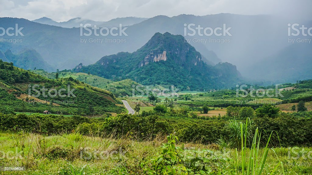 Rural Landscape Scene. Thailand. Asia stock photo