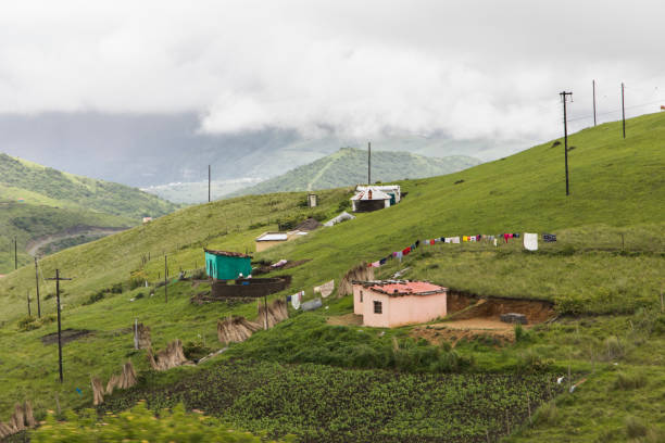 Rural landscape Transkei South Africa stock photo